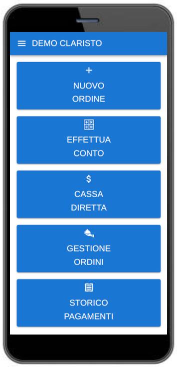 Home page da smartphone